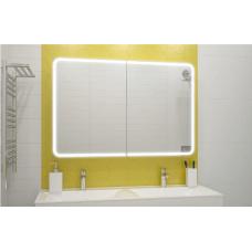 Зеркало-шкаф Avenue LED 1200х800 с датчиком движения (розеткой) ЗЛП360